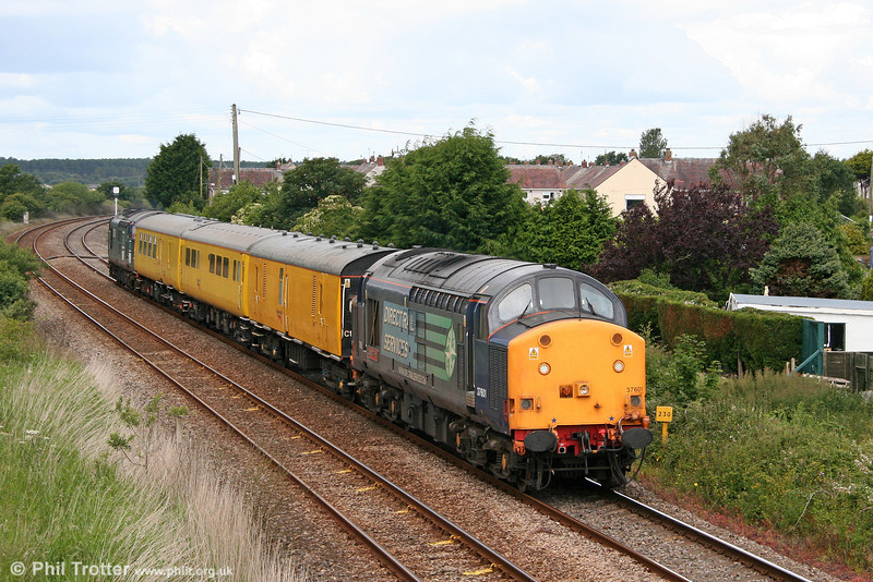 37601 'Class 37 - Fifty' passes Ashburnham with test train 2Q88, Whitland to Derby RTC on 29th June 2011.