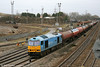60074 'Teenage Spirit' passes Newport ADJ with 6B13, 0505 Robeston to Westerleigh on 5th February 2011.