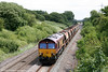 66043 descends Stormy Bank with 6W04, Westbury to Grovesend on 19th June 2011.