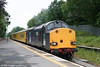 DRS 37038 departs from Gowerton running back to Swansea with test train 2Q88, 0535 Derby RTC to Swansea via Gowerton on 27th June 2011.