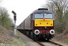 WCRC 57001 at the rear of private charter 1Z43, 0718 Carnforth to Cardiff Central at Hendy Junction on 31st March 2012.