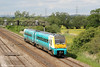 175005 passes Coedkernew forming 1W19, 0804 Fishguard Harbour to Manchester Piccadilly in a rare moment of sunshine on 4th June 2012.