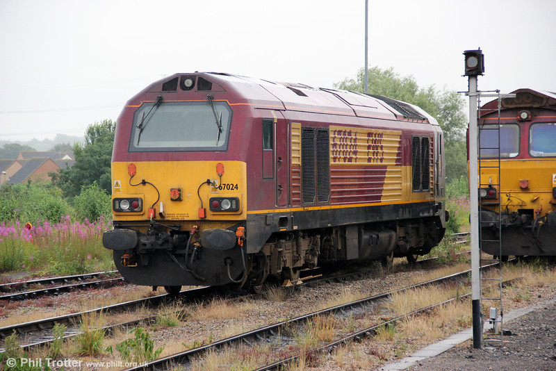 67024 is seen stabled at Didcot Parkway on 14th July 2012.