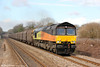 Colas 66846 is seen at Pyle West with 6O78, 1100 Margam to Dollands Moor on 4th March 2012.