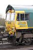 A cab portrait of 66553 at Stoke Gifford yard on 18th February 2012.