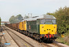 With DCR's other locomotives committed elsewhere for the weekend, on 1st September 2012 it fell to 31601 and 31602 to provide power for 6Z31, 1107 Derby Chaddesden to Cardiff Tidal, providing the welcome spectacle of double headed class 31s on a freight working. In near-perfect lighting conditions, the pair of vintage Brush Type 2s are seen at Ashchurch.