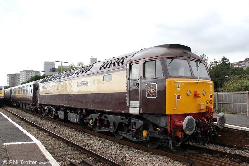 DRS 47832 'Solway Princess' waits to leave Swansea with 1Z33, 1210 Cardiff Central to Fishguard Harbour, 'The Northern Belle' on 14th September 2010.