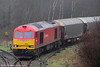 60054 emerges from the Garw Loop at Tondu with 6H25, 1034 Margam to Llanwern on 8th January 2012.
