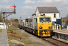 Network Rail's Windhoff MPV DR98909 and DR98959 at Pantyffynnon running as 6Z10, 1301 Llanwrtyd Wells to Margam via Llandeilo Junction and Felin Fran on 1st April 2012.