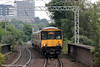 318264 approaches Partick forming 2F69, 0840 Motherwell to Balloch on 5th August 2012.