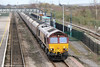 66011 at Severn Tunnel Junction with 6V67, 0353 Redcar to Margam on 17th March 2012.