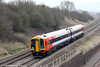 On-hire SWT 158887 passes Standish forming FGW's 2G83, 1154 Swindon to Cheltenham Spa on 22nd March 2012.