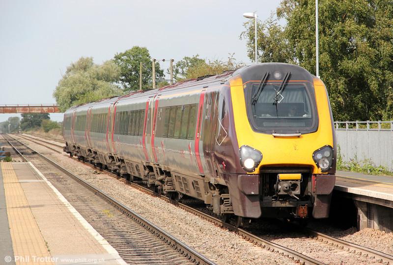 221121 passes Ashchurch forming 1V56, 0750 Glasgow Central to Penzance on 1st September 2012.