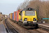 70007 is seen at Cholsey with 4O29, 0814 Crewe to Southampton on 15th December 2012.