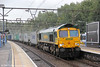 66567 passes Shenfield with 4L90, 0911 Birmingham Lawley Street to Felixstowe on 25th August 2012.