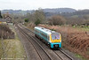 175009 passes Penpergwm forming 1W86, 1121 Cardiff Central to Holyhead on 17th March 2012.