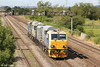 NR MPV DR98958 and DR98908 pass Coedkernew running as 6Z05, 0916 Margam to Bristol Barton Hill on 28th July 2012.