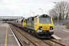 70006 passes Severn Tunnel Junction with 4F56, 1042 Fifoots Power Station to Stoke Gifford on 20th March 2012.