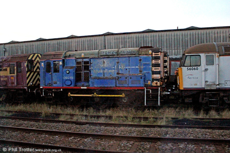 Former Mainline 09019 is another Harry Needle machine, seen in store at Nemesis Rail, Burton upon Trent on 29th November 2012. At the time of the photo it was being offered for sale to 'preservationists only'.