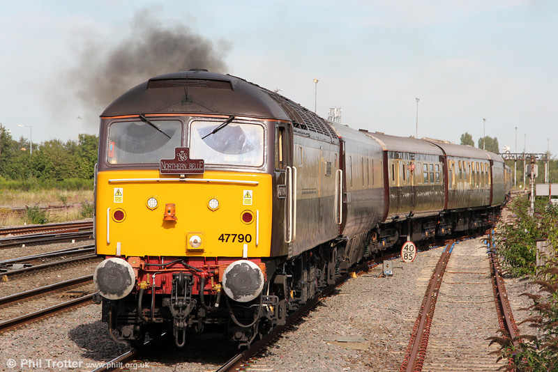 DRS 47790 'Galloway Princess' departs from the loop at Swindon with 5Z29, 1545 ECS to Bath Spa for the return 'Northern Belle' excursion to Gobowen on 8th September 2012.