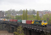 70008 crosses the River Usk at Newport with 4O51, 0955 Wentloog to Southampton on 27th April 2012.