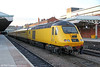 43013 is seen at Nottingham with the NMT , running as 1Q52, 0734 Derby RTC to Bedford, London St. Pancras and back to Derby RTC on 29th November 2012.