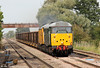 A shot taken just prior to the previous one, with 31601 and 31602 heading 6Z31, 1107 Derby Chaddesden to Cardiff Tidal at Ashchurch on 1st September 2012.