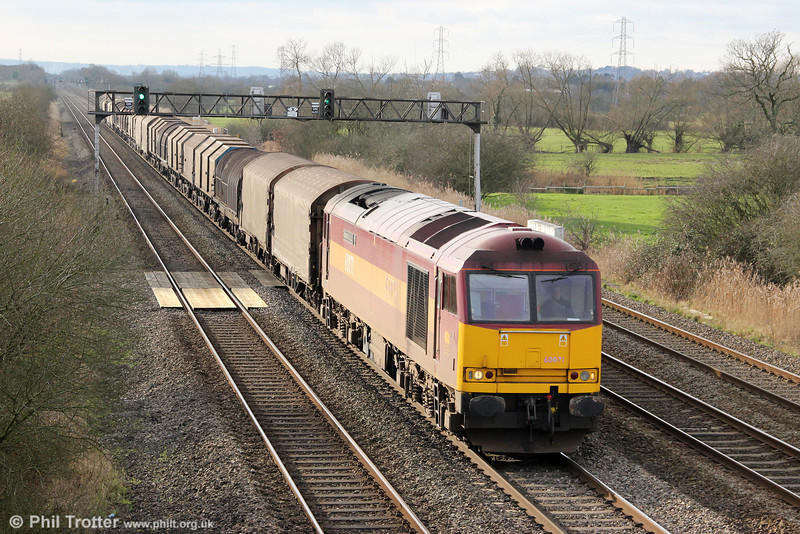 60071 'Ribblehead Viaduct' passes Coedkernew with 6B67, 1152 Margam to Llanwern on 28th January 2012.