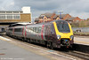 XC 220006 departs from Banbury forming 1V85, 0700 Edinburgh to Reading on 21st April 2012.