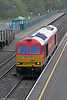 60063 passes Briton Ferry running as 0A11, 1800 Margam to Robeston on 4th April 2012.