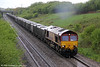 66238 climbs Stormy Bank with 6E30, 1623 Margam to Hartlepool on 7th May 2012.