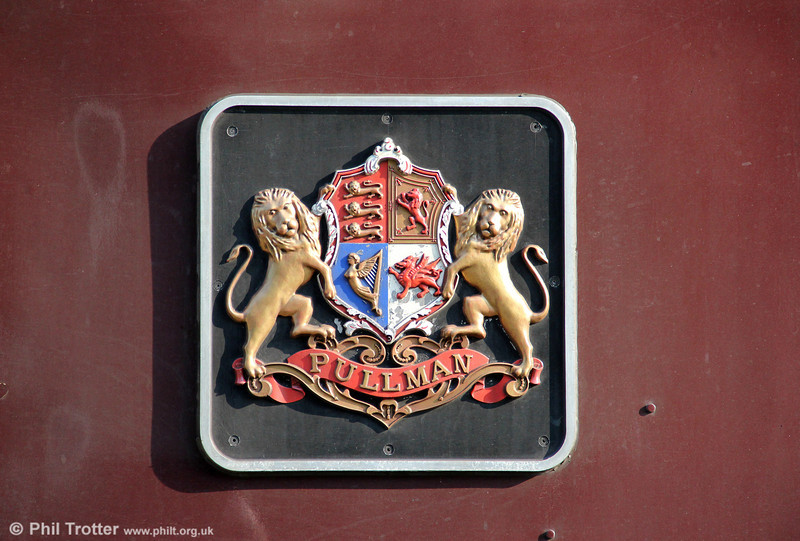 The Pullman crest as applied to 47790 'Galloway Princess' at Fishguard Harbour on 2nd March 2012.