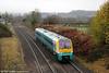Class 175 pioneer 175001 passes Penpergwm forming 1W15, 0602 Milford Haven to Manchester Piccadilly on 24th November 2012.