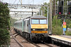 90003 'Raedwald of East Anglia' heads 1P39, 1300 Norwich to London Liverpool Street through Shenfield on 25th August 2012.