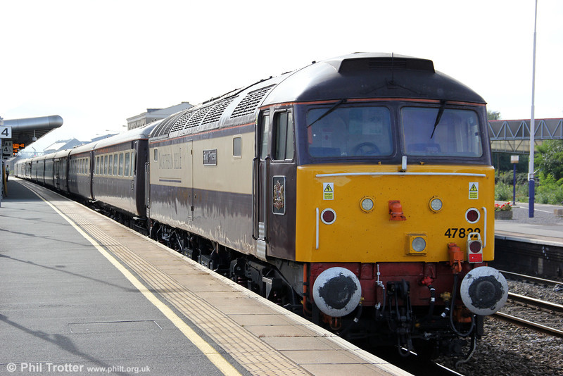 DRS 47832 'Solway Princess' at the rear of 5Z29, 1545 Swindon to Bath Spa 'Northern Belle' ECS on 8th September 2012.