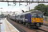 360110 departs from Shenfield forming 1N41, 1405 Clacton-on-Sea to London Liverpool Street on 25th August 2012.