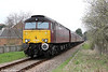 WCRC 57601 approaches Hendy Junction with private charter 1Z43, 0718 Carnforth to Cardiff Central on 31st March 2012.