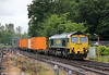 66501 'Japan 2001' approaches Southampton Central with 4M28, 0932 Southampton Maritime to Ditton on 12th June 2012.