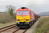 60007 'The Spirit of Tom Kendell' at Llangennech with 6B41, 1310 Margam to Trostre on 31st March 2012.