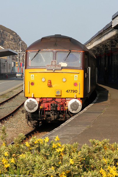 47790 'Galloway Princess' waits at Fishguard Harbour on 2nd March 2012.