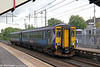 156439 calls at Holytown forming 2Y63, 1326 Edinburgh Waverley to Glasgow Central on 6th August 2012.