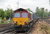 66122 at Southampton Central with 4M66, 0932 Southampton Western Docks to Birch Coppice on 12th June 2012.