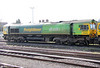 Freightliner 66522 is still (half) in Shanks livery, albeit looking a little scruffy. The loco is seen stabled at Stoke Gifford on 29th March 2012