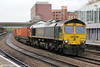 66954 is seen at Newport with 4V50, 0508 Southampton Maritime to Wentllog on 16th June 2012.