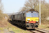 66304 at the rear of Pathfinder's 1Z66, 1036 Tondu to Cwmgwrach via GCG, 'The Coal Grinder' railtour at Pantyffynnon on 24th March 2012.
