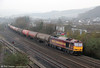 60045 'The Permanent Way Institution' passes Briton Ferry with 6B13, 0505 Robeston to Westerleigh on 2nd March 2012.