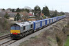 Former Fastline 66304 passes Portskewett with 4V38, 0822 Daventry to Wentloog 'Tesco Express' on 20th March 2012.