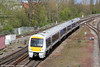 CR 168110 approaches Banbury forming 1H33, 1055 Birmingham Moor Street to London Marylebone on 21st April 2012.
