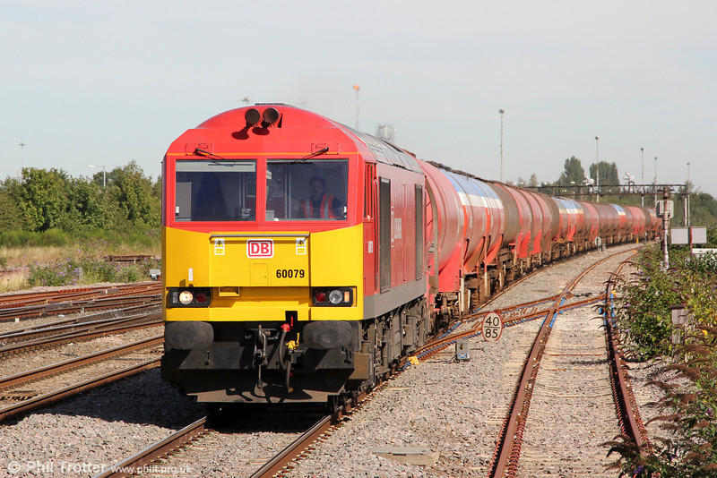 DBS 60079 passes Swindon with 6B33, 1212 Theale to Margam on 8th September 2012.