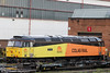 Colas Rail 47727 'Rebecca' at Cardiff Canton, waiting to leave as 0Z47, 1100 to Rugby on 25th September 2012.